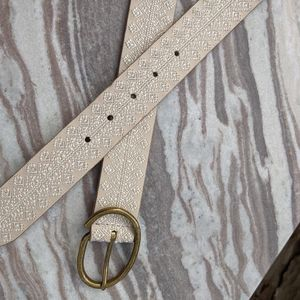 Lucky Brand Accessories - Lucky brand ivory off white embroidered belt